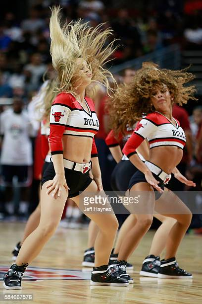 The Chicago Bulls dance team performs during the game between the USA Basketball Men's National Team and Venezuela on July 29 2016 at the United...