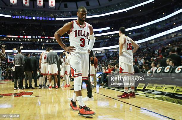 The Chicago Bulls' Dwyane Wade during the final seconds of his team's 119114 loss to the Atlanta Hawks at the United Center in Chicago on Wednesday...