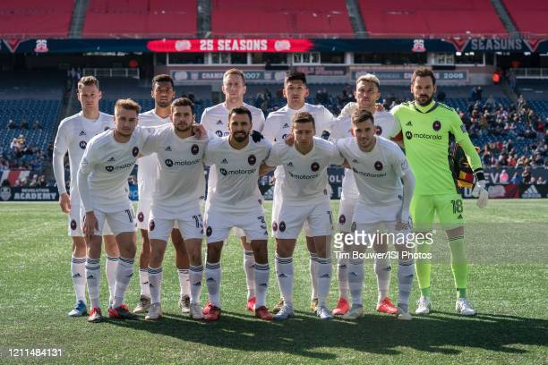 The Chicago Fire team pose for a picture before the game between Chicago Fire and New England Revolution at Gillette Stadium on March 7 2020 in...