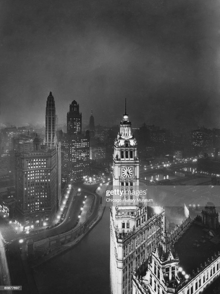 Chicago At Night : News Photo