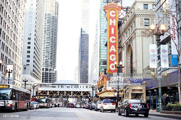 The Chicago Theater during Christmas Holiday