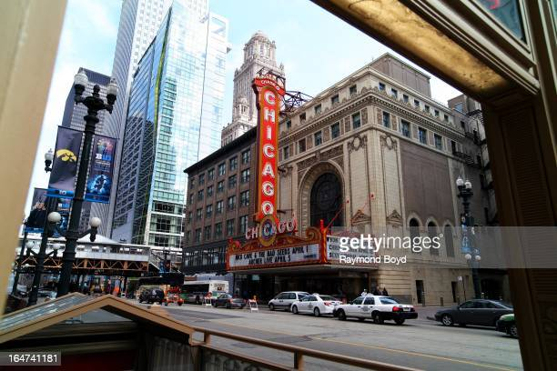 The Chicago Theater, in Chicago, Illinois on MARCH 23, 2013.