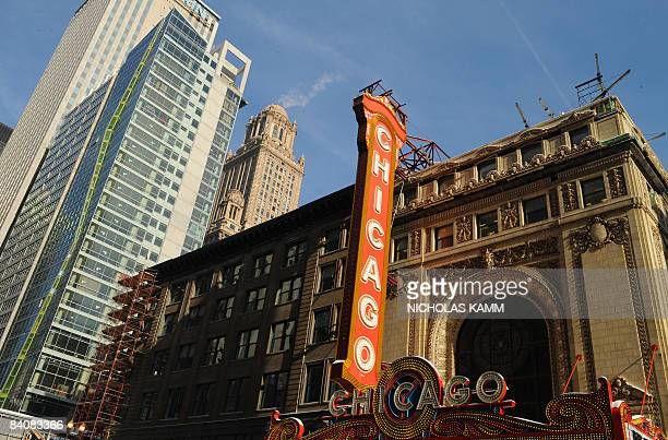 The Chicago theater is seen in Chicago, Illinois on December 18, 2008. AFP PHOTO/Nicholas KAMM