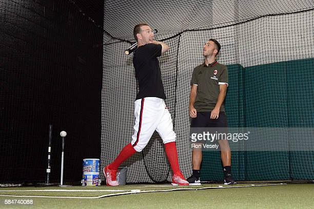 The Chicago White Sox hosted a visit by soccer team AC Milan on July 26 2016 at US Cellular Field in Chicago Illinois prior to the game against the...