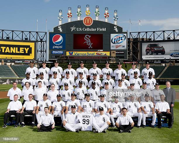 The Chicago White Sox pose for their official team photo on August 7 2012 at US Cellular Field in Chicago Illinois FIRST ROW Batboys SECOND ROW...