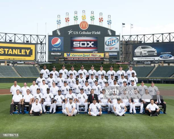 The Chicago White Sox poses for their official team photo on July 22, 2013 at U.S. Cellular Field in Chicago, Illinois. FIRST ROW: Batboys SECOND...