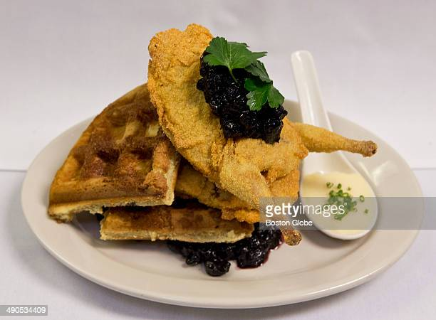 The chicken and waffles at Savvor Restaurant Lounge on Thursday February 13 2014