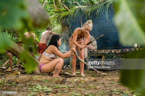 The Chicken Has Flown the Coop Bi Nguyen and Jessica Peet on the second episode of SURVIVOR David vs Goliath airing Wednesday Oct 3 on the CBS...