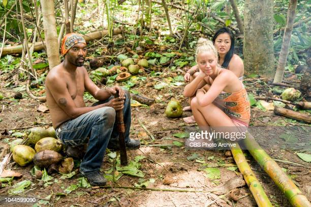 The Chicken Has Flown the Coop Carl Boudreaux Jessica Peet and Bi Nguyen on the second episode of SURVIVOR David vs Goliath airing Wednesday Oct 3 on...