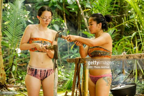 The Chicken Has Flown the Coop Gabby Pascuzzi and Bi Nguyen on the second episode of SURVIVOR David vs Goliath airing Wednesday Oct 3 on the CBS...