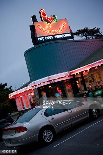 the chickenburger drive-in restaurant - bedford nova scotia stock pictures, royalty-free photos & images