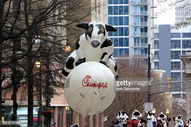 The Chickfila float at the Peach Bowl Parade before the College Football Playoff Semifinal at the ChickfilA Peach Bowl between the Washington Huskies...