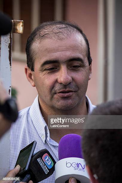 The chief of the morgue talks to the press on March 10 2015 in La Rioja Argentina Three French sports stars died due to the accident Champion sailor...