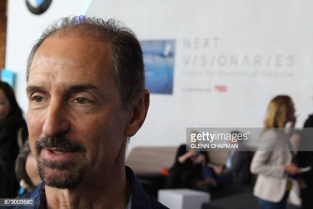 The chief of the Siri digital assistant team at Apple Tom Gruber speaks at the TED Conference in Vancouver Canada on April 25 2017 'Artificial...