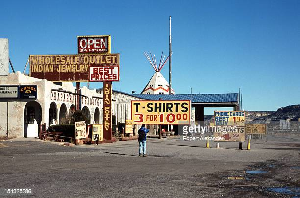 The Chief Yellowhorse Trading Post along historic Route 66 near Lupton Arizona was a popular stop for tourists traveling the historic highway and...