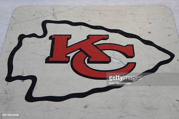 The Chiefs logo before the AFC Divisional playoff game between the Pittsburgh Steelers and Kansas City Chiefs on January 15 2017 at Arrowhead Stadium...