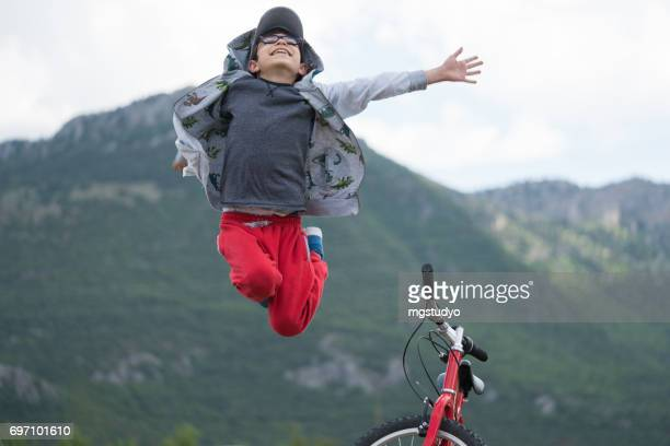 The child is jumping