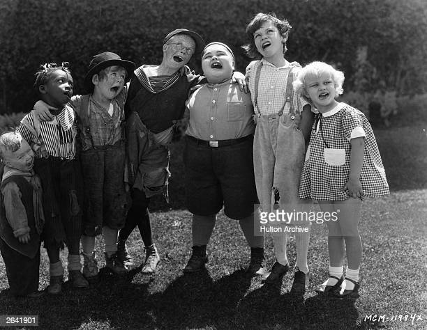 The child stars of the 'Our Gang' film series otherwise known as the 'Little Rascals' The films were originally produced by Hal Roach but he sold the...