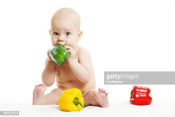 Enfant avec du paprika.