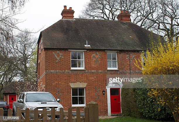 The childhood home of Kate Middleton the fiancee of Britain's Prince William is pictured in the village of Bradfield Southend southeat England on...