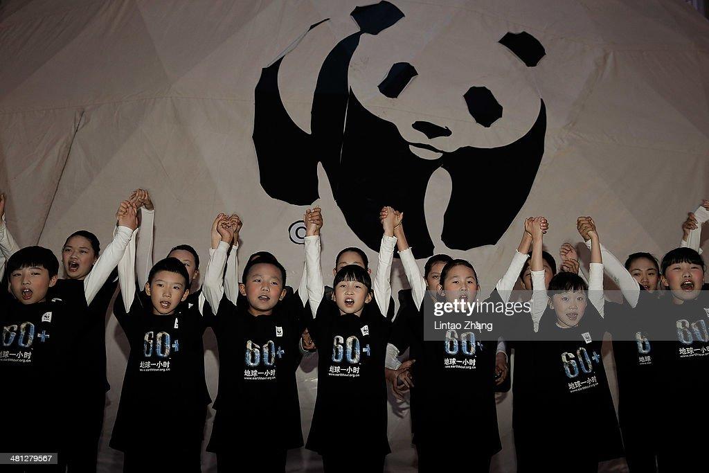 Beijing Goes Dark For Earth Hour : ニュース写真