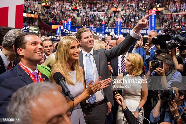 The children of Donald Trump gather as the State of New York cast its delegates for their father giving him the majority of delegates and crushing...