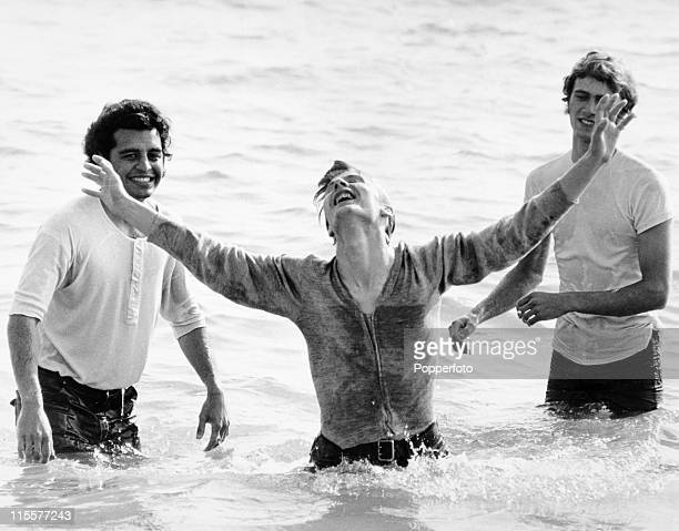 The Children of God an evangelical force also known as the Jesus Freaks baptise a new convert in the sea at Brighton on 17th September 1971