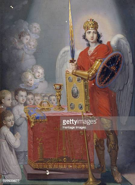 The Children of the Emperor Paul I before the altar protected by Archangel Michael Found in the collection of State Museum of Religious History St...