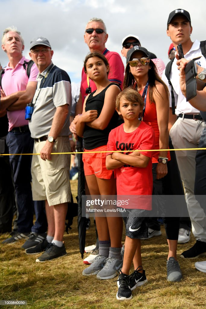 the children of tiger woods of the united states look on during the    news photo