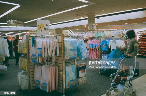 The children's department of the Marks Spencer at the MetroCentre in Gateshead UK January 1988