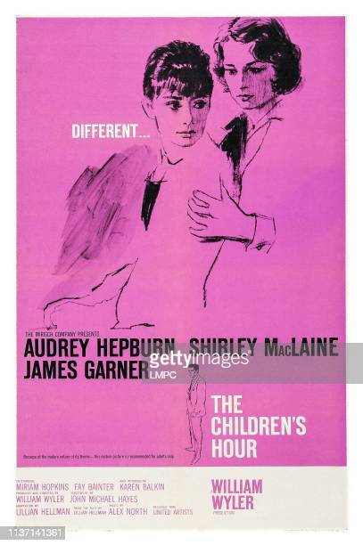 The Children's Hour, poster, from left: Audrey Hepburn, Shirley MacLaine on poster art, 1961.