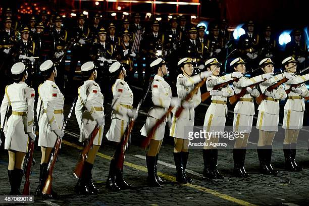 The China's band of the People's Liberation Army perform during the Spasskaya Tower International Military Orchestra Music Festival opening ceremony...