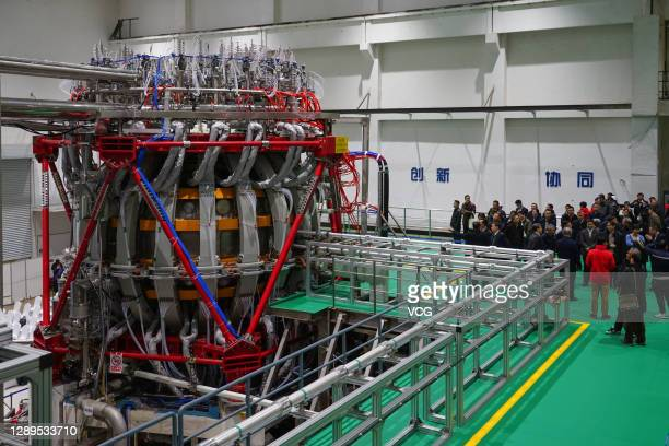The China's nuclear fusion device 'HL-2M' tokamak, nicknamed the 'Artificial Sun', achieves its first plasma discharge at the Southwestern Institute...