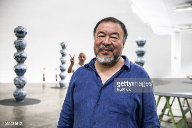 The Chinese artist Ai Weiwei poses during his exhibition quotAi Weiwei Rootquot in Sao Paulo Brazil on October 18 2018 The show presents historical...
