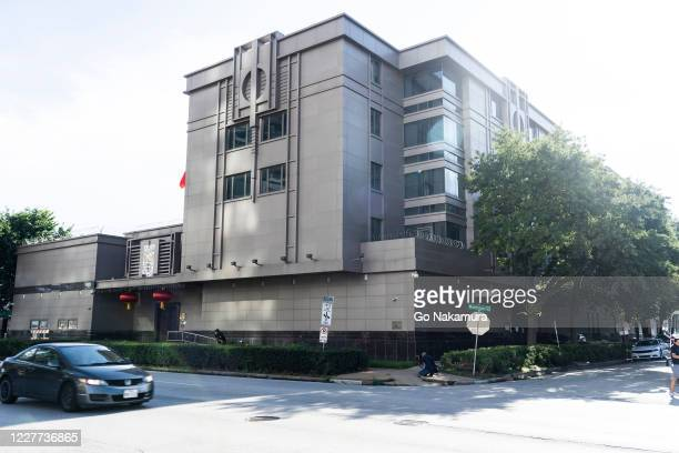 The Chinese consulate building is seen after the United States ordered China to close its doors on July 22, 2020 in Houston, Texas. According to the...