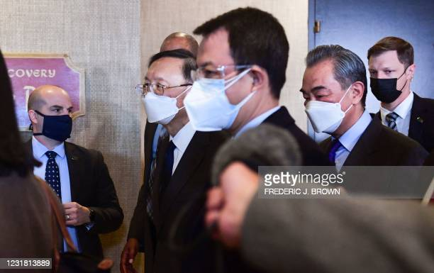 The Chinese delegation led by Yang Jiechi , director of the Central Foreign Affairs Commission Office of the Chinese Communist Party and State...