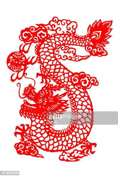 The Chinese Dragon Paper-cut