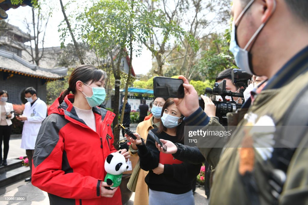 The Chinese experts will fly to Italy to help fighting against novel coronavirus pneumonia in Chengdu,Sichuan,China on 11th March, 2020 : News Photo