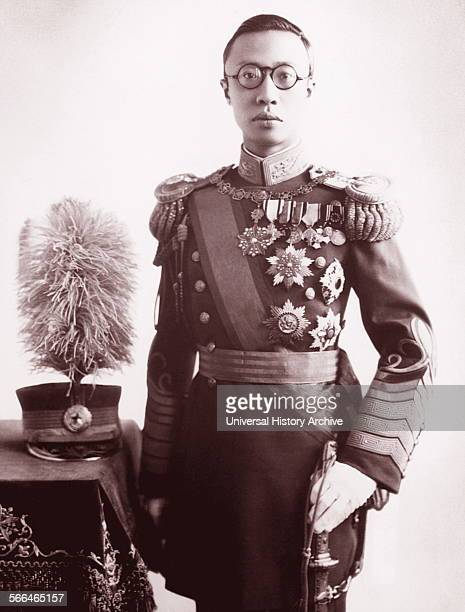 The Chinese Manchu Emperor's Pu Yi the puppet emperor of Manchuria in China. 1935.