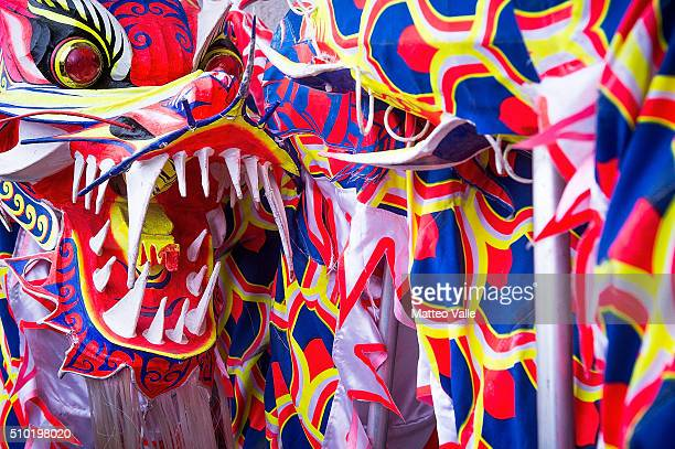 The Chinese New Year's Parade to celebrate the Year of the Monkey on February 14 2016 in Milan Italy