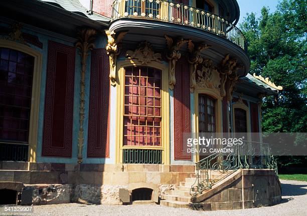 The Chinese pavilion, park of Drottningholm palace , Lovon island, Sweden.