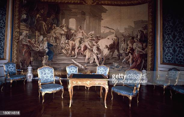 The Chinese salon in Drottningholm Castle begun in 1662 by architects Nicodemus Tessin the Elder and Nicodemus Tessin the Younger Sweden