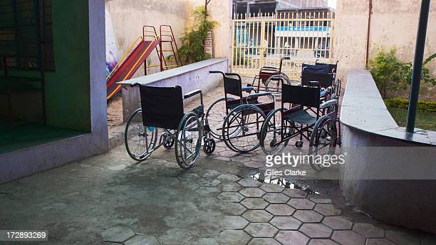 The Chingari Trust's rehab center for children have several wheelchairs for impaired and disabled patients November 30 2012 in Bhopal India The...