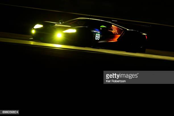 The Chip Ganassi Ford GT of Ryan Briscoe Scott Dixon and Richard Westbrook drives during practice for the Le Mans 24 Hour Race at Circuit de la...
