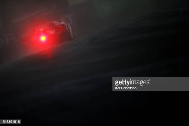 The Chip Ganassi Racing Ford GT of Billy Johnson Stefan Mucke and Olivier Pla drives during qualifying for the Le Mans 24 Hour race at the Circuit de...