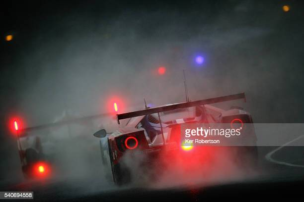 The Chip Ganassi Racing Team Ford GT of Marino Franchitti Harry Tincknell and Andy Priaulx drives during qualifying for the Le Mans 24 Hour race at...