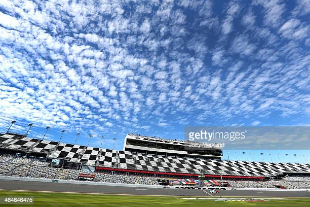 The Chip Ganassi Racing Telcel/Target Riley DP driven by Scott Pruett Memo Rojas Jamie McMurray and Sage Karam during practice for the Rolex 24 at...