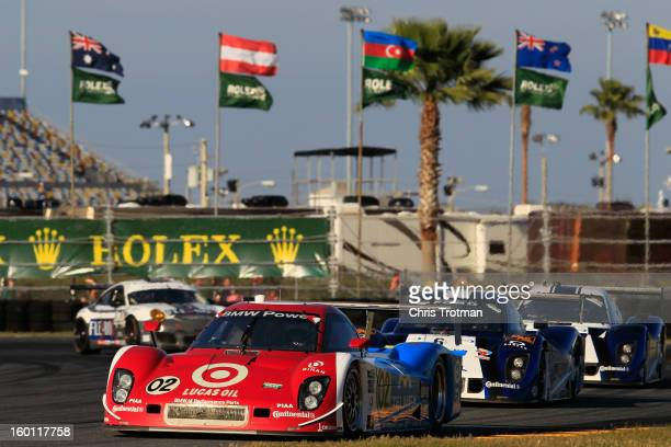 The Chip Ganassi Racing with Felix Sabates Target/TELMEX Ford Riley driven by Scott Pruett Dario Franchitti Jamie McMurray Joey Hand and Scott Dixon...