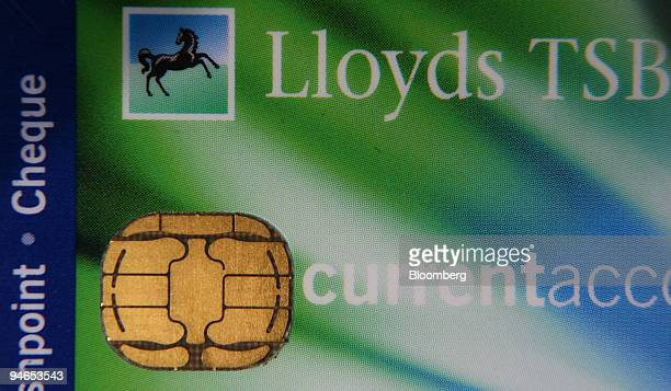 The chip portion on a chipandpin creditcard is seen in London UK Monday May 8 2006 Shell's UK petrol stations have temporarily halted chipandpin...