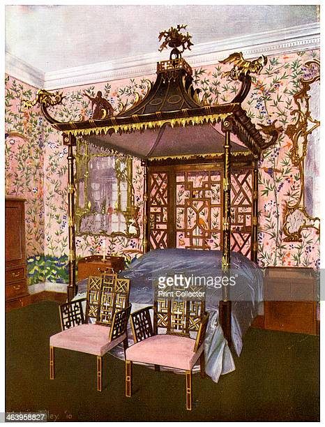 The Chippendale Chinese Bedroom Badminton House Gloucestershire 19111912 A print from The Book of Decorative Furniture its Form Colour and History...